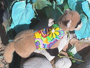 Ferret Harness - Colorful Love and Flowers - M/L