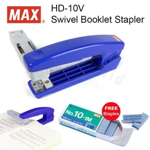 1 Box Staples FREE! MAX HD-10V Swivel Booklet DIY Stapler