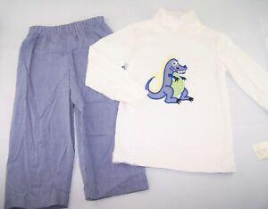 Chicos Deseos Secretos Apliques De Dragon Dinosaurio Camiseta Pantalones Traje 2t Nuevo Con Etiquetas Boutique Ebay