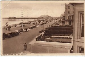 Postcard-MARINE-PARADE-AND-PIER-WORTHING-Ref-C3