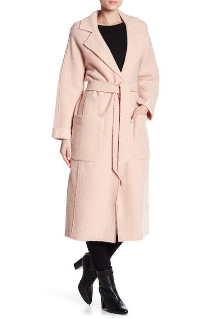 NEW Joie Rodina Wool Blend Long Line Coat in Pink - Size M  C235