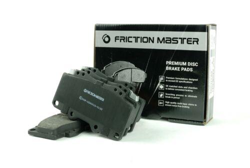 Friction Master Front Brake Kit Set of 2 Rotors and 4 Metallic Pads BK1738m