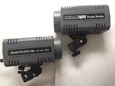 Two Light Set Medalight Studio Strobes PG4001-ML Photogenic Flash