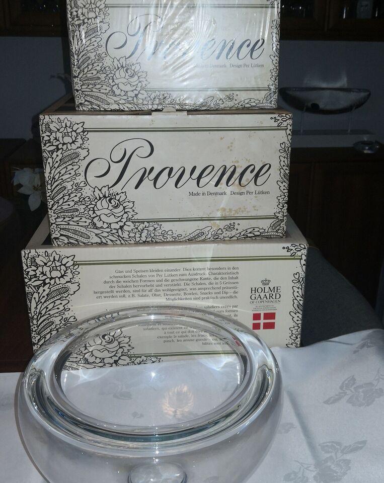 Glas, Holmegaard Provence glasskål, Holmegaard