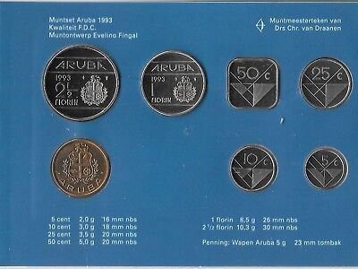 NETHERLANDS 1991 COIN SET 6 Coins 5 Cent 1 Dutch Mint Medal UNC B2 5 Gulden