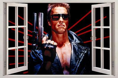 Terminator 3D Window View Wall Sticker Art Decal Mural