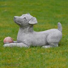 Hand Cast Stone Jack Rus Garden Ornament Dog Statue Sculpture Onefold Uk