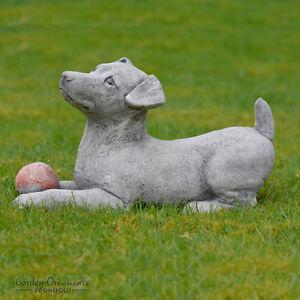 Hand Cast Stone Jack Russell Garden Ornament Dog Statue