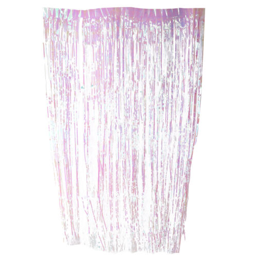 Metallic Fringe Foil Tinsel Curtain Party Christmas Shiny String Door Decor