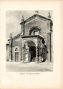 Stampa Antica Carpiano Chiesa San Martino Vescovo Milano 1933 Old Antique Print Ebay