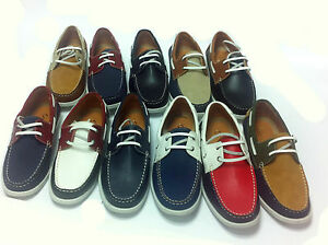 New-Mens-formal-Smart-Casual-Lace-Up-Boat-Shoes-Various-Colours-Size-6-11