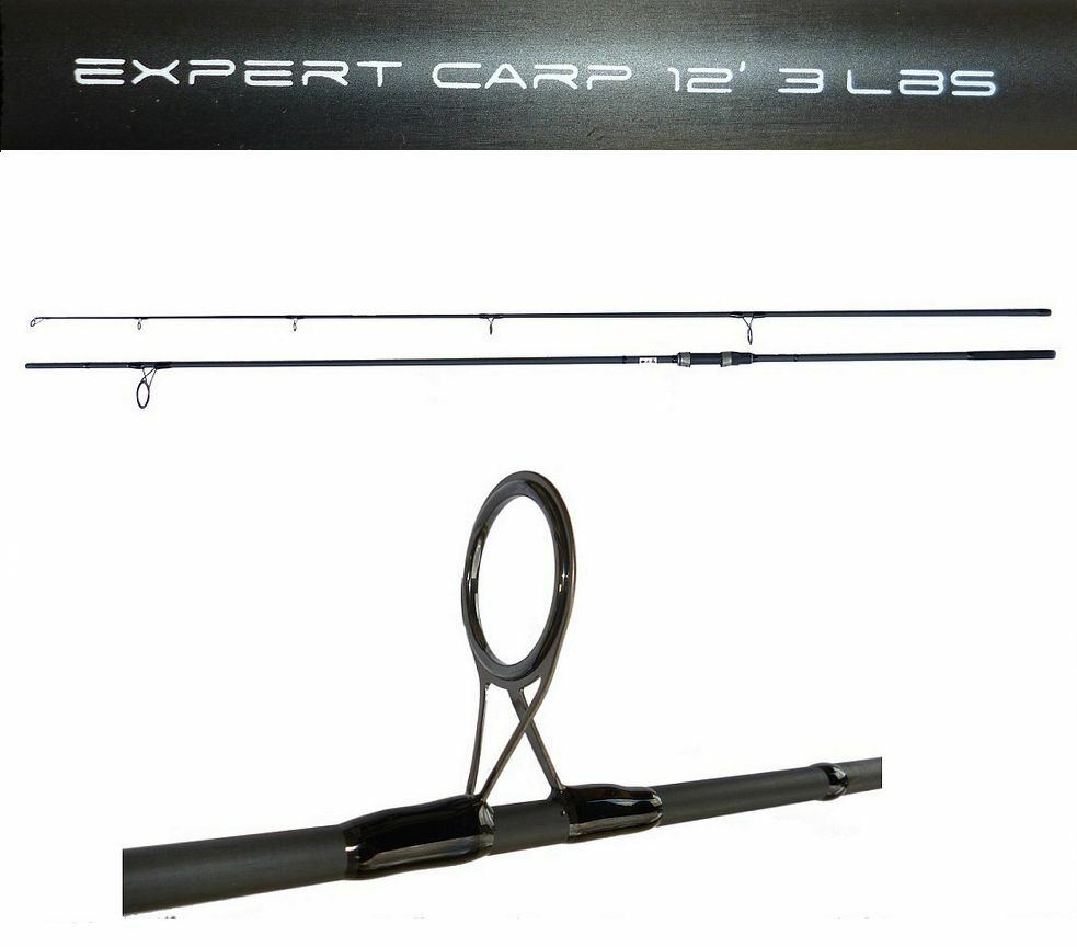 Canna expert carpfishing 12 piedi 3lb anello 50mm pesca carp fishing carbonio