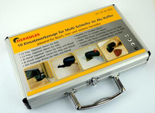 Sägeblatt Multifunktionswerkzeug Set 10tlg Multi Schleifer Alu koffer Multitool