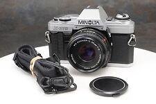 :Minolta X-370 35mm Film SLR w MD Rokkor X 45mm F2 Lens & Strap
