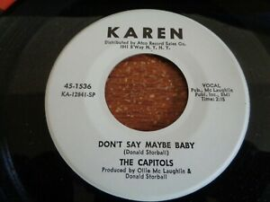 Good one, The Capitals, Don't Say Maybe Baby, Karen promo # 1536, M-