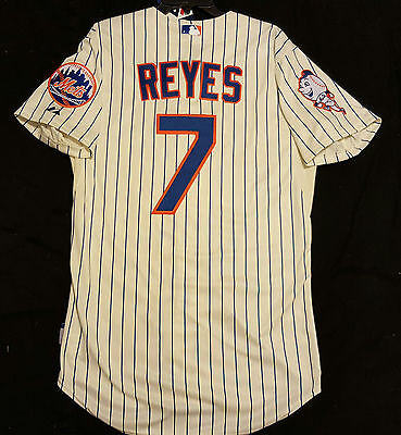 newest b002f 1fea8 Majestic AUTHENTIC 56 3XL NEW YORK METS JOSE REYES COOL BASE MR MET PATCH  Jersey | eBay