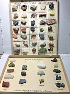 2-Vintage-1954-Rocks-amp-Minerals-Collection-Sets-Getting-Acquainted-amp-Vermont