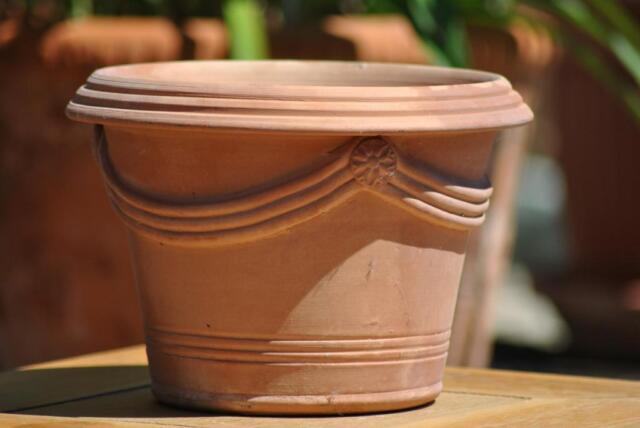 25cm Blumenkübel,Vase,schlichte Form,Spanien,Handarbeit,ca