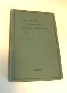 Antique-The-Teaching-of-Elementary-School-Gymnastics-Book-Inscribed-Olyve-Wegman