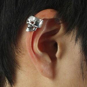 Ohrschmuck  Männer Damen Skull Ohrringe Ohrklemme Ohrring Schmuck Ohrstecker ...