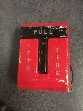 Red National Time & Signal Corp T Bar Fire Alarm Pull Station Metal Box 620M