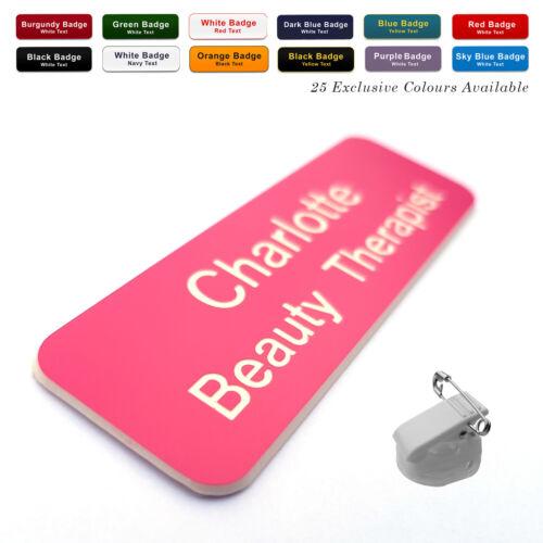 ROTATING CLIP /& PIN custom Engraved Name Badge Deputy Manager Sales Advisor