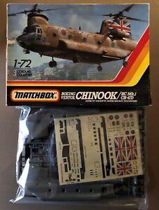 MATCHBOX-PK-413-BOEING-VERTOL-CHINOOK-HC-Mk-1-CH-47D-1-72-PLASTIC-KIT-NUOVO