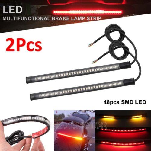 2x LED Strip Tail Brake Turn Signal Fit YZF R1 R1S R6 R6S FZ1 FZ6 FZR 600R 750R