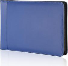 Business Check 7 Ring Checkbook Binder Pu Leather Portfolio Blue New