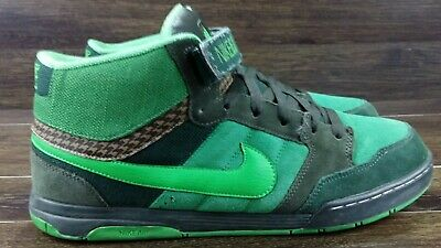Nike Air Morgan Mid 6.0 Green Skater High tops 318466-300 Size 13 | eBay