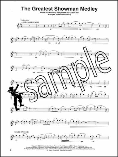 The Greatest Showman Medley for Violin Sheet Music /& Audio Lindsey Stirling