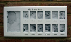 Baby My First Year 12 Month 13 Photo White Hanging Photo Frame