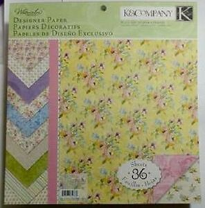 K&Company Watercolor Bouquet Designer Paper Pad 36 pages Double Sided 1.7 lbs!