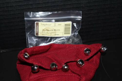 Longaberger /'11 Holiday Helper Jingle Bells Liner in Paprika with Bells 24067 N