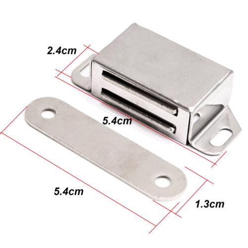 10x Edelstahl Magnetschnapper Tür Schnapper Möbelmagnet 8-12 kg mit Gegenplatte