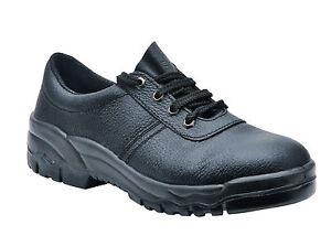 Portwest FW19 Black Work Non Safety Shoe O1 Soft Toe Anti Static Slip Resistant