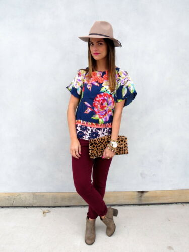 Details about  /NEW Anthropologie Gardenia Silk Tee by Maeve  Size 2