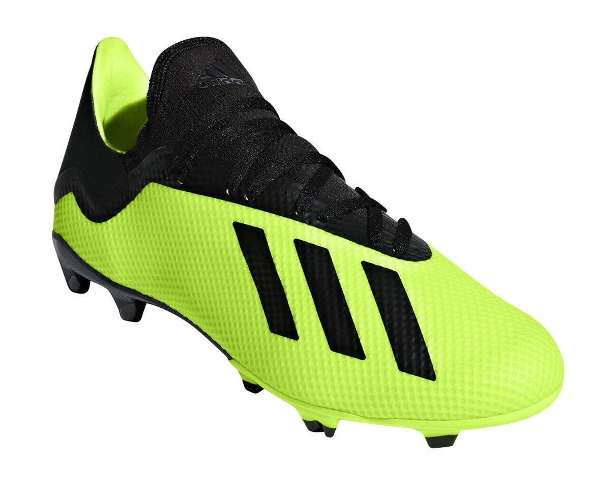 Adidas Zapatos De Fútbol Hombres Entrenamiento Deportes X 18.3 FG Botines de fútbol adultos DB2183