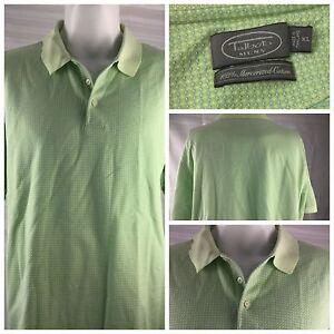 Talbots-Polo-Short-Shirt-Green-XL-100-Mercerized-Cotton-SS-EUC-YGI-W86