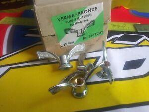 NEW OLD STOCK pr VERMA BRONZE Wing Nuts 3//8 9.5 x 26 Maillard Atom Normandy Moyeu Arrière Essieu
