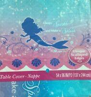 Disney Princess Little Mermaid Ariel Lot Of 2 Plastic Tablecloth Sparkle Splash