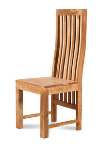 Dakota Solid Light Mango Wood Dining Chair For Dining Table Set