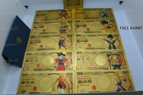 Dragon Ball Z 10 Billets 10000 Yen Or Gold DBZ Japan Carte Card No Bandai Figure