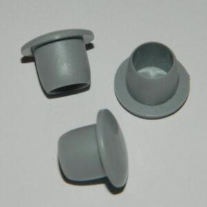 20 Blindstopfen,Abdeckstopfen f.Bohrungen Ø 18 mm Grau