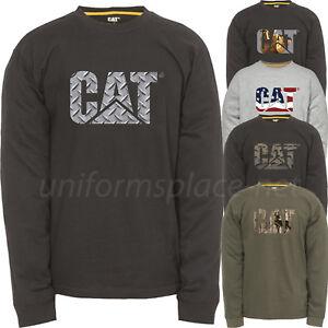 09e44617438e Caterpillar T shirt Men Long Sleeve Graphic CAT Logo Tee T- Shirts ...
