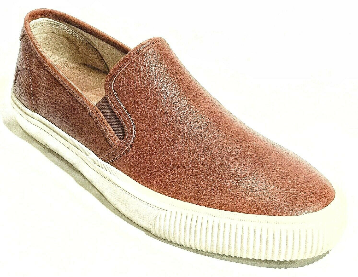 Frye Men's Patton Cognac Leather Slip On Sneakers shoes 12 NEW IN BOX