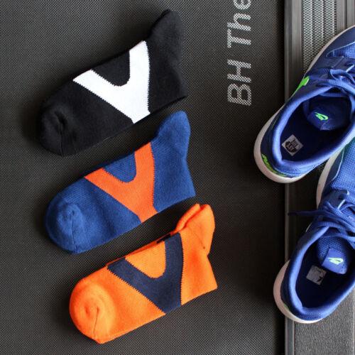 3 Paire De Sport Hommes Basket Long Chaussettes Soft Crew Quarter Socquette Multi-type