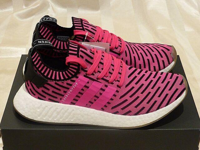 adidas NMD R2 Japan Pink Black Primeknit Gum Boost Shoes Us9.5 ... ecab1ba288