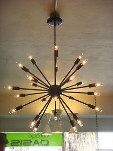 OIL-RUBBED-BRONZE-ATOMIC-SPUTNIK-STARBURST-LIGHT-FIXTURE-CHANDELIER-PENDANT-LAMP