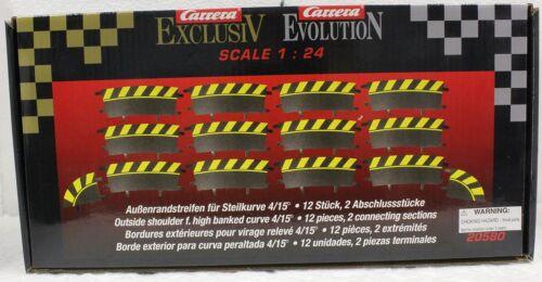 Carrera 20580 Outside Border Radius 4//15 High Banked Curve Track Blk /& Yellow